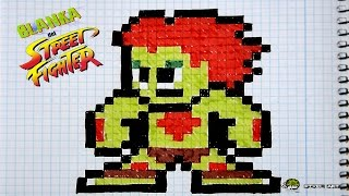 Handmade Pixel Art - How To Draw a Blanka | SPEED ART | MasVideos By: TheNocs