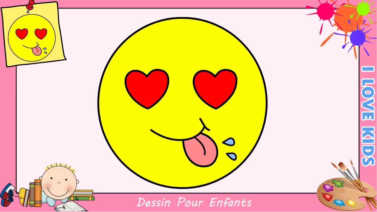 comment dessiner un emoji kawaii facile pour enfants dessin kawaii 3 viyoutube. Black Bedroom Furniture Sets. Home Design Ideas