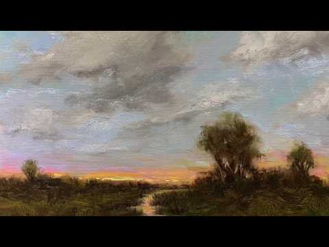 Landscape Oil Painting Time Lapse with Megan Gray Arts