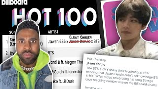 jason derulo, put some RESPECT on bts' name
