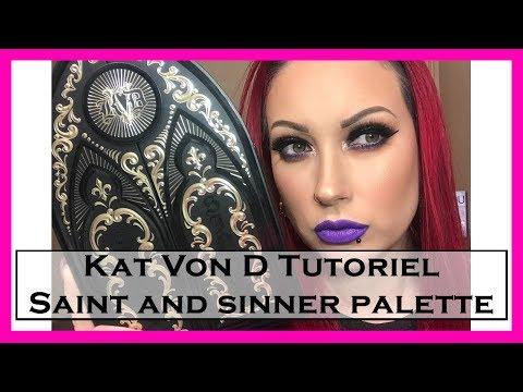 Kat Von D Saint And Sinner Palette Makeup Tutorial  SissouMakeUpArtist
