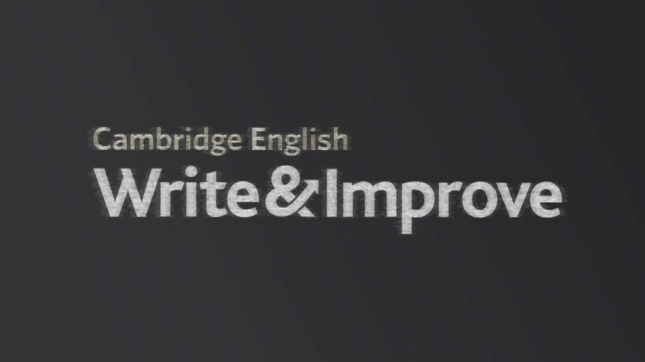 Cambridge English Write & Improve