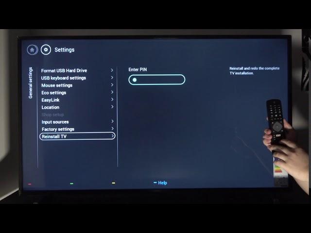 how to reset phillips smart tv