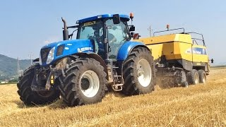 PURE SOUND New Holland T7.250 + New Holland BB960 A CropCutter