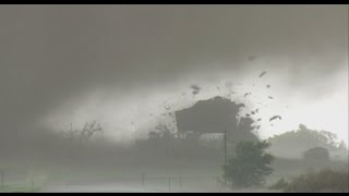 Tornado destroys house