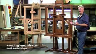 Hughes Easels Model 4000 In Mahogany