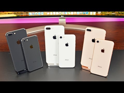 Apple iPhone 8 vs 8 Plus: Unboxing & Review (All Colors)