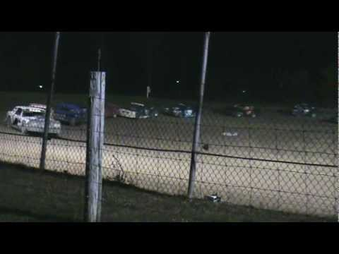 Hard Thunder car flip at Montpelier Motor Speedway