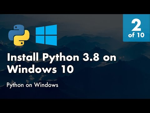 Install Python 3.8 On Windows 10 - 2 Of 10 - Install Python 3.8 On Windows 10