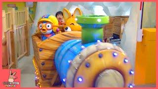 뽀로로 기차 회전목마 말 타고 어린이 놀이 시간 ♡ 뽀로로 테마 파크 키즈 카페 잠실점 #3 Pororo Indoor Playground | 말이야와아이들 MariAndKids