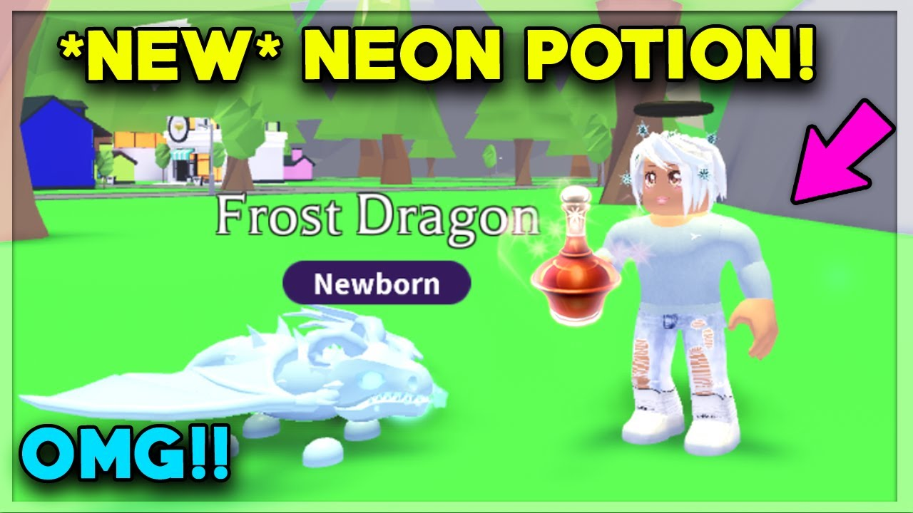 Instantly Make Your Pet Neon With This New Potion Adopt Me