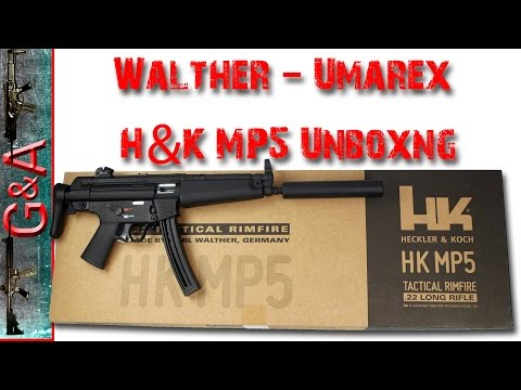 Walther H&K MP5 A5 22lr Unboxing