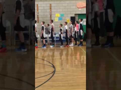 National Anthem sung by Christian Stafford at Chippens Hill Middle School on 1/30/17