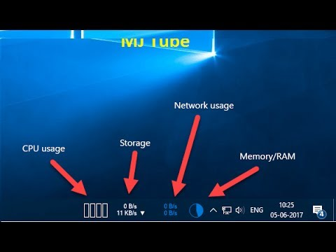 How to Monitor CPU, Storage, Network, RAM in Taskbar of Windows PC