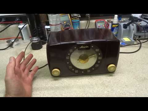 Repair Of A 1950 Arvin 450T AA5 AM Tube Radio