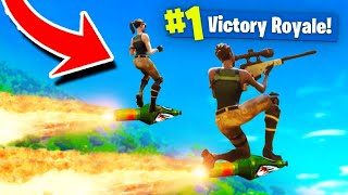 The DOUBLE ROCKET Ride Strategy in Fortnite!