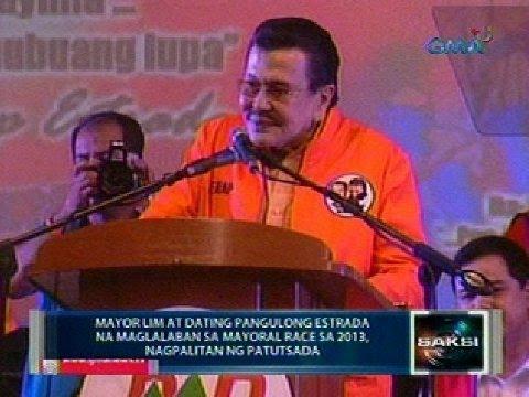 Saksi: Mayor Lim at Erap, nagpatutsadahan sa pulitika