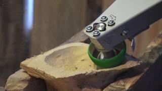 Насадка на болгарку Комбо Wood - Выборка углубления в капе борфрезой Saburrtooth CR290 в форме чаши