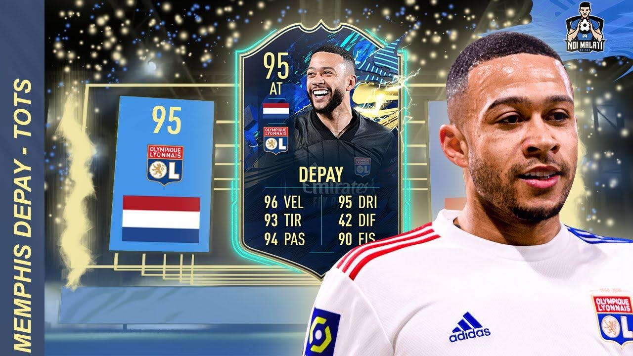 MEMPHIS DEPAY - TOTS 95   #FIFA21 Player Review (ITA) - YouTube