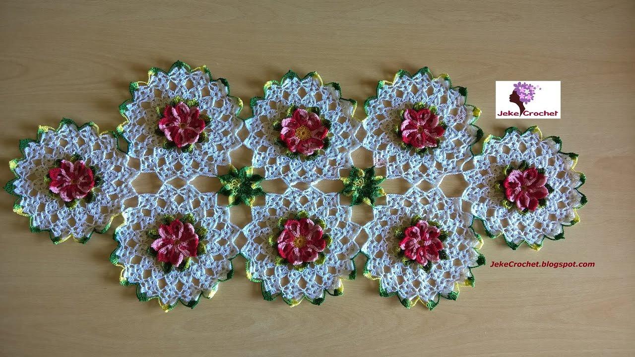 Paso a Paso - Camino de Mesa Primaveral- Crochet o Ganchillo - YouTube