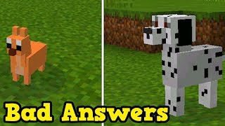 Minecraft Tiny Dogs & 1.7 Release Date  (Bad QnA Saturday)
