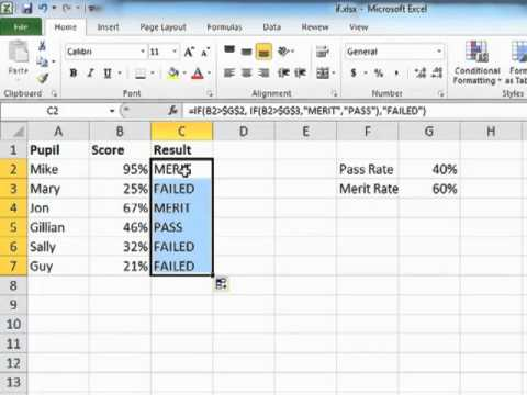 How to Use Multiple IF Statements in Microsoft Excel