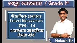 MUKESH PANCHOLI II MISSION INSTITUTE II SCHOOL MANAGEMENT II राजस्थान माध्यमिक शिक्षा बोर्ड