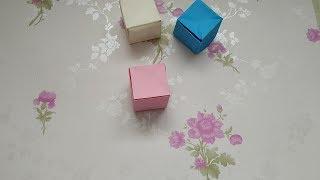 手工折纸DIY,如何折一个正方形?最简单的方块折纸