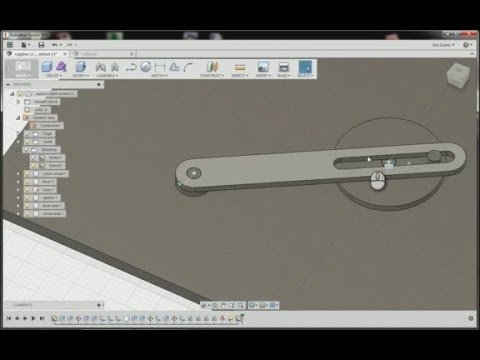 Fusion 360: Making a positive drive crank