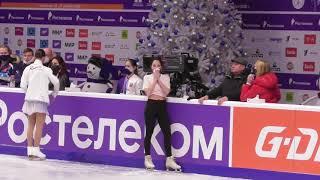 Тренировка 26 12 20 Трусова Валиева Щербакова Чемпионат России Челябинск
