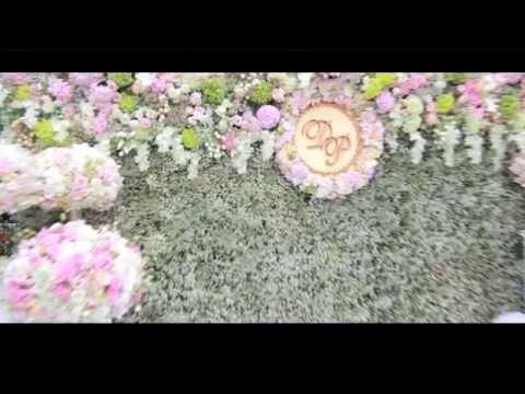 วิธีจัดซุ้มดอกไม้ ผูกผ้าโยงผ้า การจัดดอกไม้งานแต่งงาน backdrop งานแต่งงาน by Siri Organize