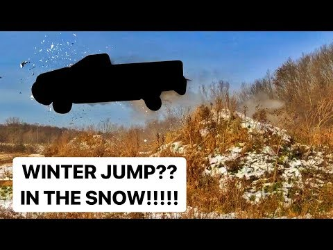 SURPRISE Winter Vehicle JUMP!!!