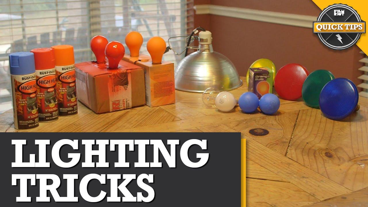 Quick Tips: DIY Lighting Tricks!   YouTube