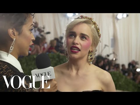 Emilia Clarke on the Final Season of Game of Thrones  Met Gala 2018 With Liza Koshy  Vogue