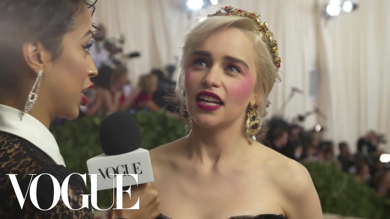 Emilia clarke on the final season of game of thrones met gala 2018 emilia clarke on the final season of game of thrones met gala 2018 with liza koshy vogue m4hsunfo