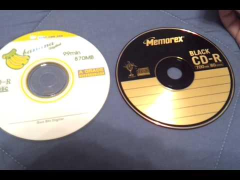 99 min 870MB CD-R discs
