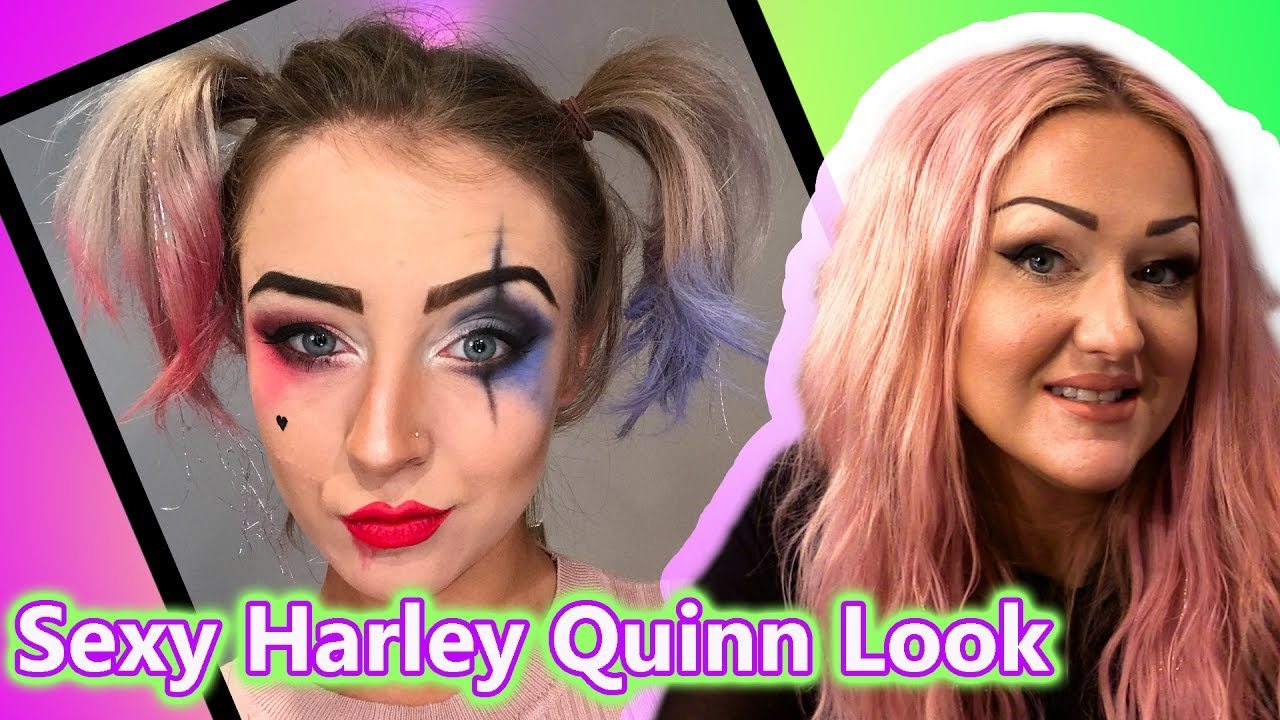 Sexy Suicide Squad - Harley Quinn - Makeup Tutorial - YouTube
