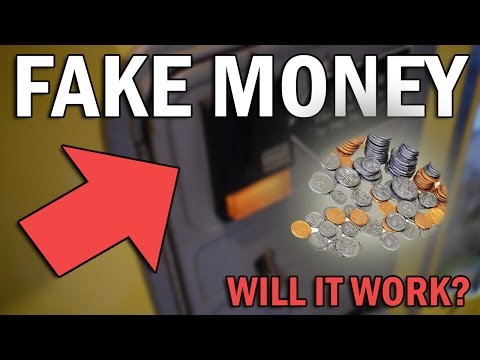 Will ARCADE MACHINES Take FAKE MONEY | Arcade Hack