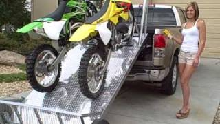 load and unload your dirt bikes the easy way elevation trailers