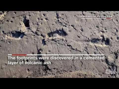 Pre human footprints give mating clues