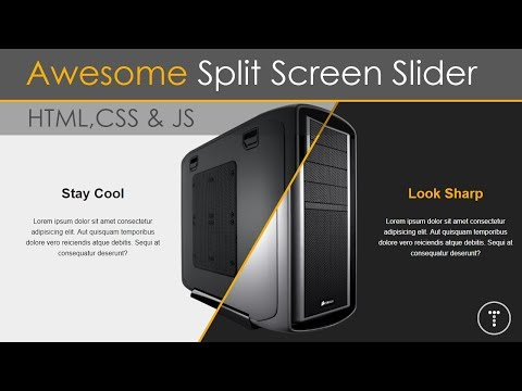 Awesome Split Screen Slider Using CSS3 & JavaScript