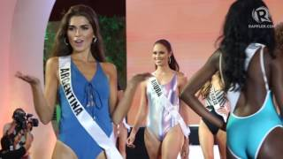 Video WATCH: Miss Universe 2016 candidates in swimsuit download MP3, 3GP, MP4, WEBM, AVI, FLV April 2018