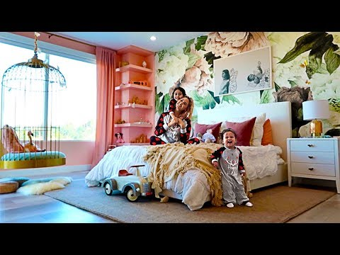 REVEALING ELLE AND ALAAS NEW BEDROOM!!! **EXTREME ROOM MAKEOVER**