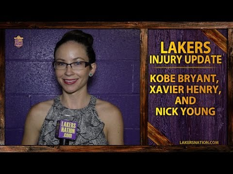 Lakers Injury Update: Kobe Bryant, Xavier Henry, and Nick Young Evaluated