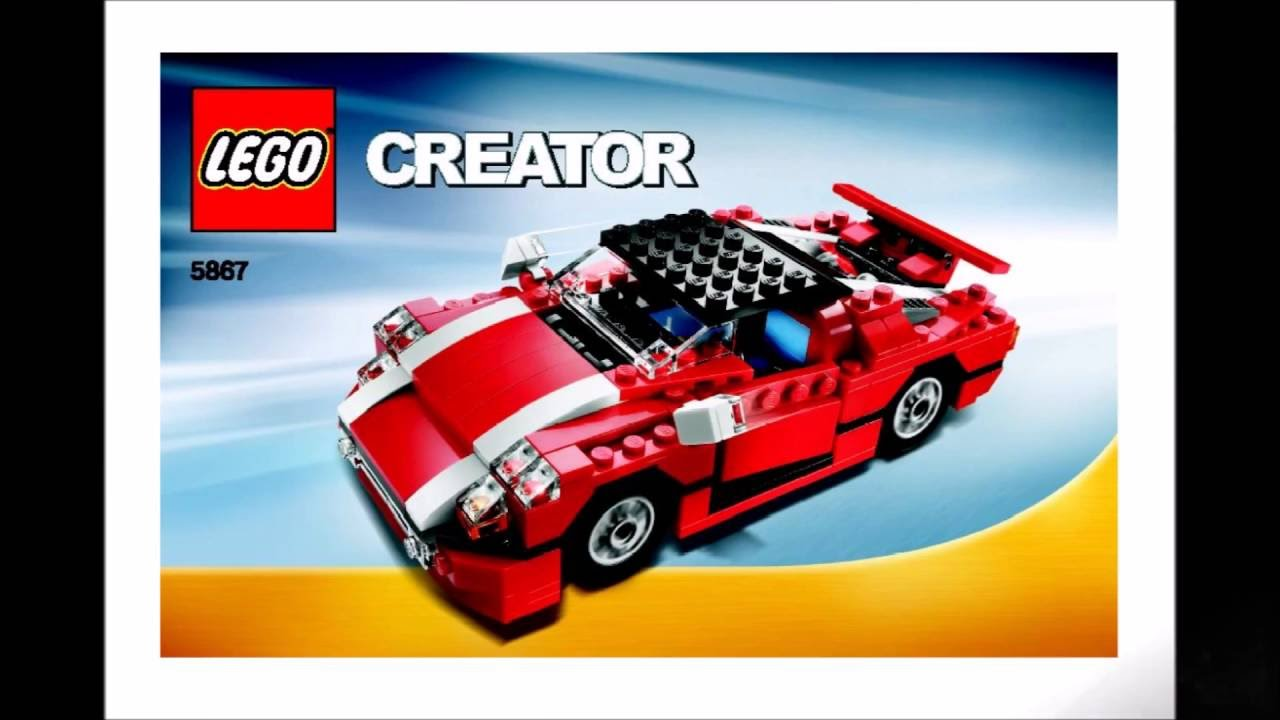Lego Creator Red Car 5867 Instructions Diy Book 1 Youtube