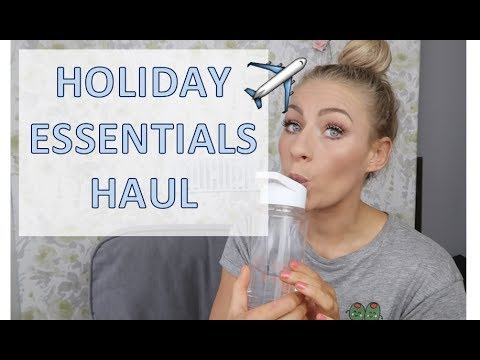 HOLIDAY ESSENTIALS | LAST MINUTE HOLIDAY!