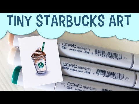 Freelance Chat: Dumping Clients! Tiny Starbucks Copic Art