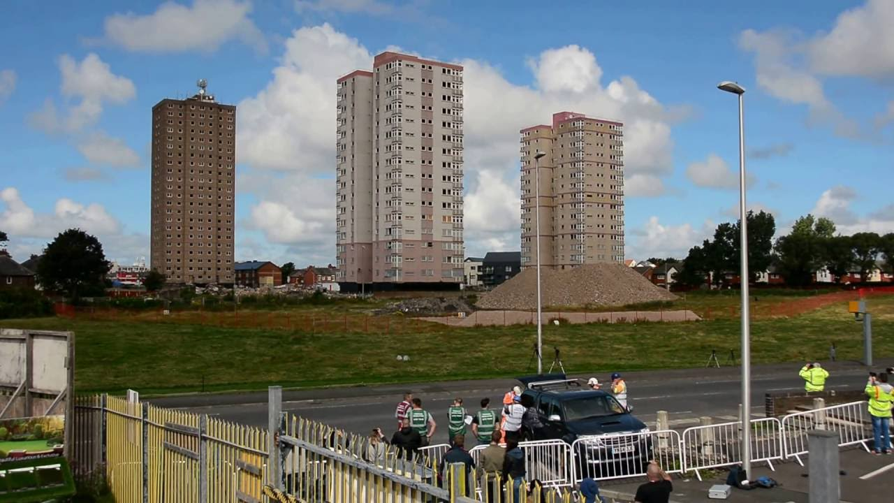 High Rise Demolition : Layton high rise flats blackpool demolition youtube