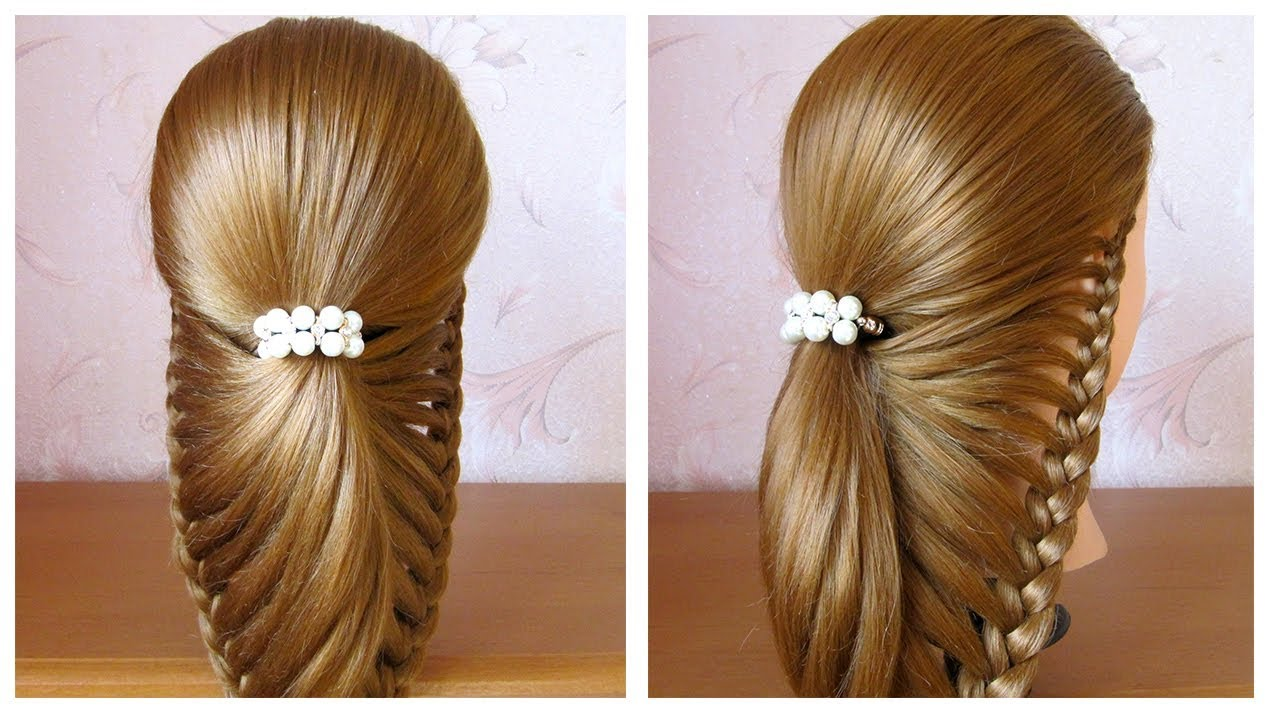 Tuto Coiffure Facile Pour Soirée Mariage Fêtes Cheveux Mi Long Long Simple Et Rapide