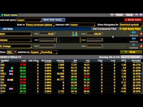Option Trading: Creating Custom Watchlists to Search for Symbols to Trade